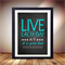Live each day poster, Print poster art, 8x10 inches, art that inspires you