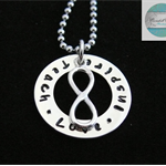 Personalised Names Pendant & Necklace with Sterling Infinity. Luxurious Range