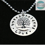 Luxurious Sterling Silver Own Names Personalised Pendant with heart & Necklace