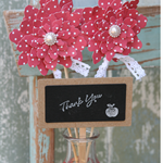 Thank You Teacher Topper ~ Succulent Gift Tag ~ Handmade Pick ~ Ready to Post