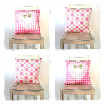 Gingham & Roses Cushion Cover
