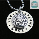 Luxurious Sterling Silver Own Names Personalised Names Pendant & Necklace