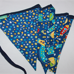 BLUE SPACE BUNTING