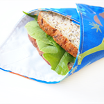 Reusable Sandwich Wrap with - Dinosaur (Blue)