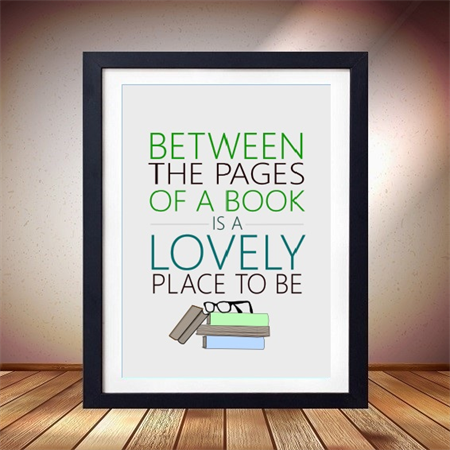 Book Print, Library Artwork, Between the pages poster, Office Print Poster 8x10