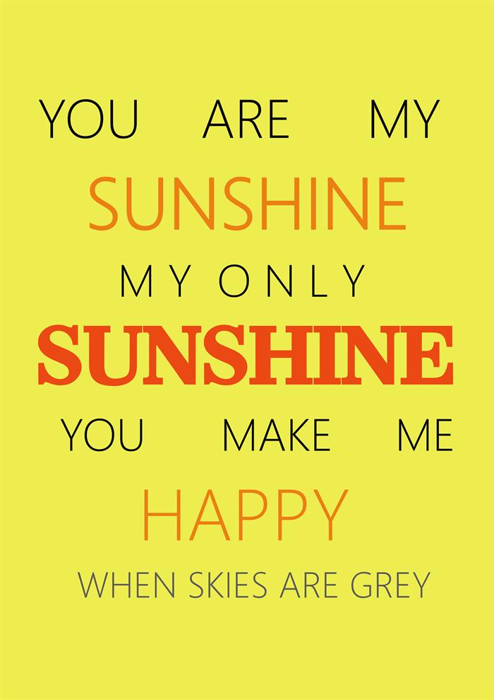 Poster Song Lyrics Song Lyrics Print Art Sun