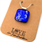 SEAHORSES dichroic glass pendant , free wrapping service