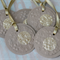 Christmas Gift Tags ~ 6 Gold Button Gift Tags