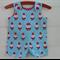 Santa overalls - xmas clothes, red, blue, dots,