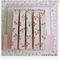 Shabby Pastel Flowers - Peg Magnet - Decorated Memo Pegs - Set of 5