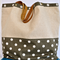 Large Ikat, Brown, Ethnic,Screen print & Organic Natural Linen Summer Beach Tote