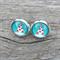 Glass dome stud earrings - Christmas Tree