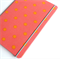 Coral Pink / Orange Spots Upcycled Fabric-covered Notebook
