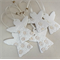 Porcelain Christmas decorations. White & gold. Ceramic ornaments. Angels