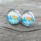 Glass dome stud earrings - Christmas Deer
