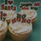 12x mixed EDIBLE wafer  christmas messages cupcake toppers