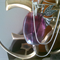 Fluorite pendant with Chain