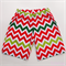 Boys Christmas Chevron Shorts Size 1-5