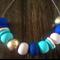 Blues, Beige & Gold Necklace