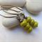 Lime Green Stack Earrings