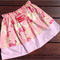Pink floral double layered play skirt