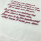 Wedding Handkerchief Bridal Hanky - Embroidered  from the Bride to her Mother.