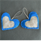 Something Blue - 3 Felt Decorations - Wedding, Christmas, Home