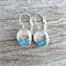 Glass dome hoop earrings - Christmas Deer