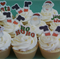 12x mixed EDIBLE wafer  christmas cupcake toppers