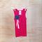 Girl's Bright Pink Embellished Singlet - Size 0