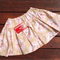 Rabbit Tea Party Skirt, tan and pink, size 4