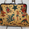 Old School tattoo clutch bag with shoulder chain