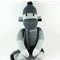 'Wilson' the Sock Monkey (grey, black and cream stripes) - *ready to post*