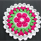 Crochet African Flower Potholder/Hot-pad