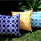 Outdoor Cushions Geometric Yellow, Navy, Turquoise, Black, Red