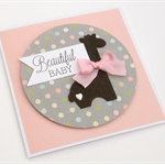 Handmade Baby Card - Beautiful Baby - Girl