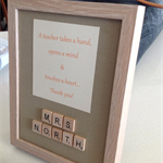 Teacher 'Thank You' Frame - made to order!