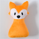 Free Postage Soft Fox Rattle Orange
