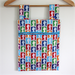 Laundry Fun Peg Bag - Rainbow Brights Queen of England Postage Stamps