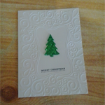 Boxed Set of Handmade  Christmas Tree Greeting, Gift Cards & Includes Pen.