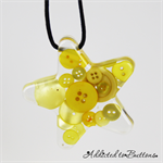 Christmas Button Star SINGLE - Yellow - Button Resin Christmas Decorations