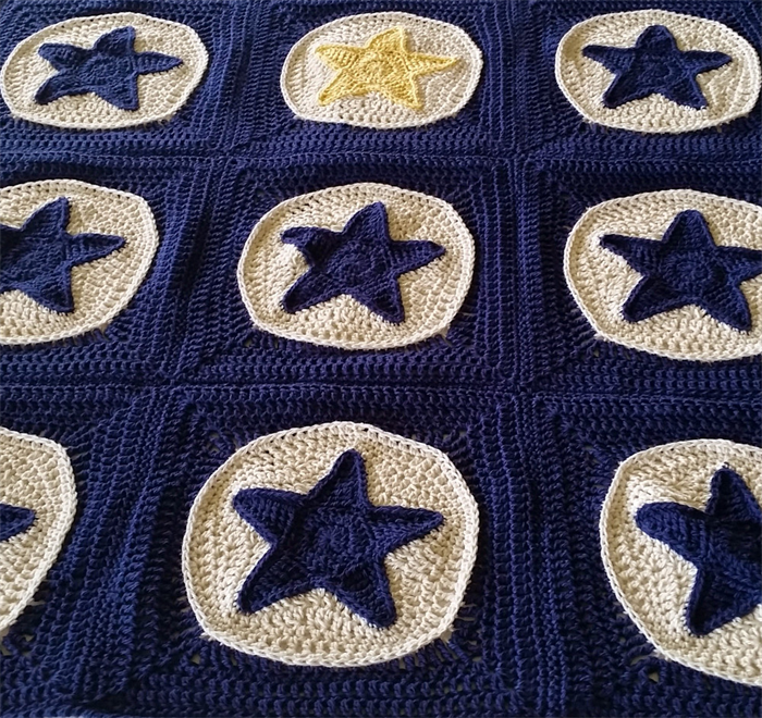 Star Light Star Bright Baby Blanket Crochet Pattern Spincushions