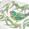 Swift Parrot greeting card, Australian bird, green rainbow colours, wildlife art