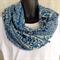 Block Print Scarf/Sarong Blue & Cream Cotton