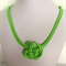 Neon Green Knot Necklace