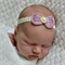 Mauve Bow Headband, Newborn Size