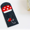 Toadstool - magnetic Felt Bookmark, Perth