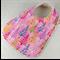 Christmas Baby Bib, Pink Cotton Christmas Tree Fabric, Bamboo Toweling Backed.