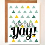 'XMAS CHEER' Geometric Christmas Greeting card