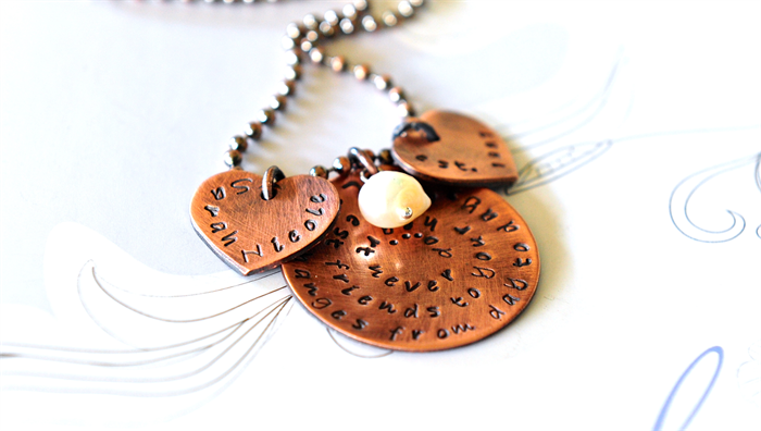Friendship Necklace Best Friend Gift Jewellery Hearts 40th 50th Birthday